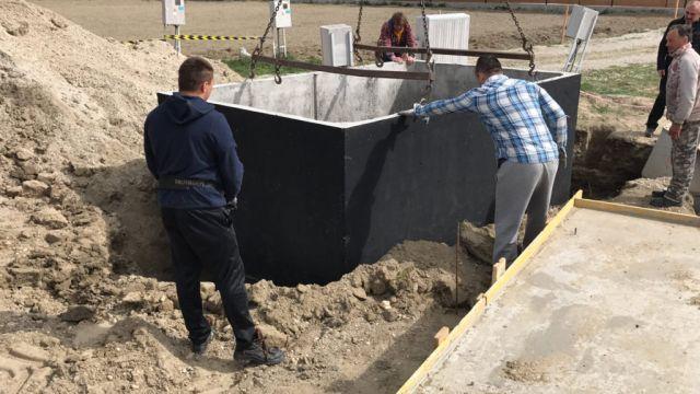 Usadzovanie betónového septiku