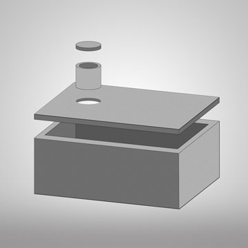 3D model jednokomorové žumpy