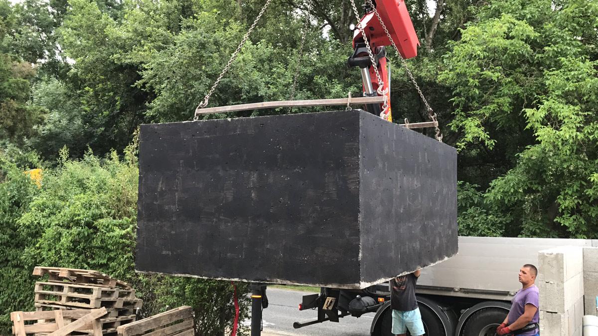 Usadzovanie betónové žumpy