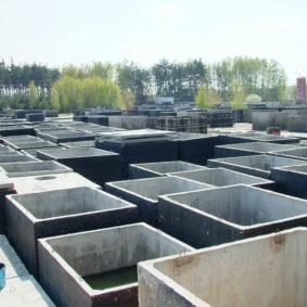 Skladovanie a výroba betónových nádrží