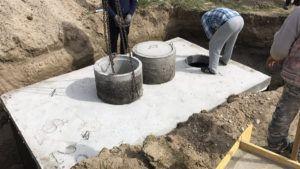 Montáž betónové žumpy